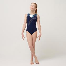 Justaucorps sans manche bleu vert turquoise 540 Gymnastique Artistique Féminine