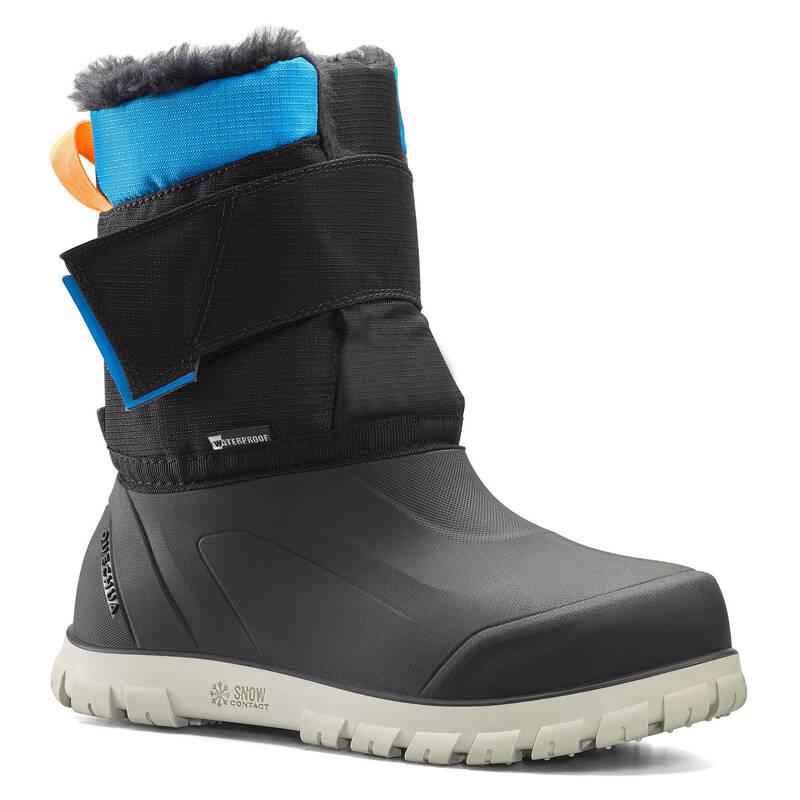 DĚTSKÉ BOTY NA ZIMNÍ TURISTIKU Turistika - SNĚHULE SH 500 X-WARM ČERNÉ QUECHUA - Turistická obuv