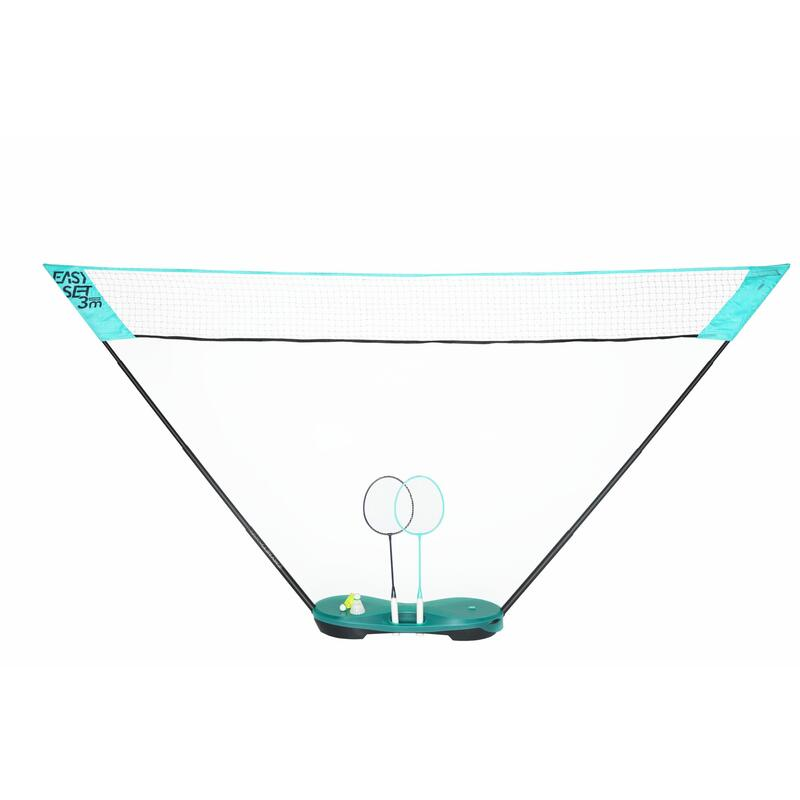 Badmintonset Easy Set 3 m turquoise