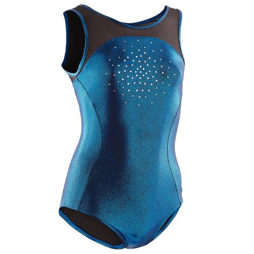 Justaucorps sans manche bleu Gymnastique Artistique Féminine
