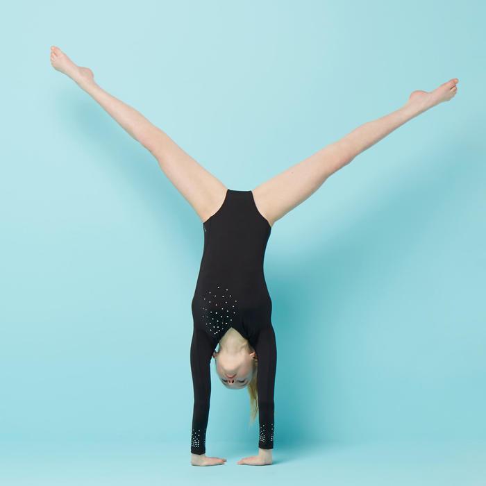 Justaucorps manches longues de Gymnastique Artistique Féminine 500 noir
