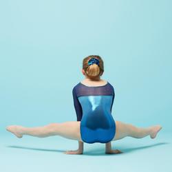 Justaucorps manches longues 3/4 de Gymnastique Artistique Féminine vert