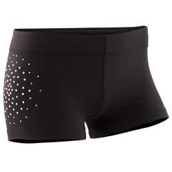 Pantaloncini ginnastica artistica femminile 900 neri con strass