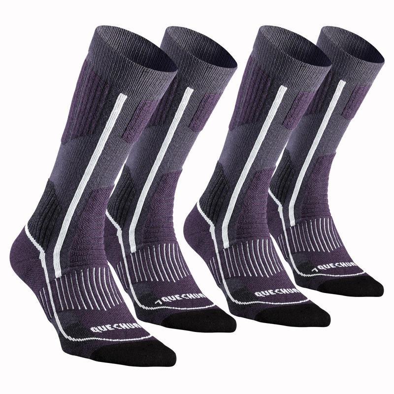Turistické polovysoké ponožky SH520 X-warm 2 páry