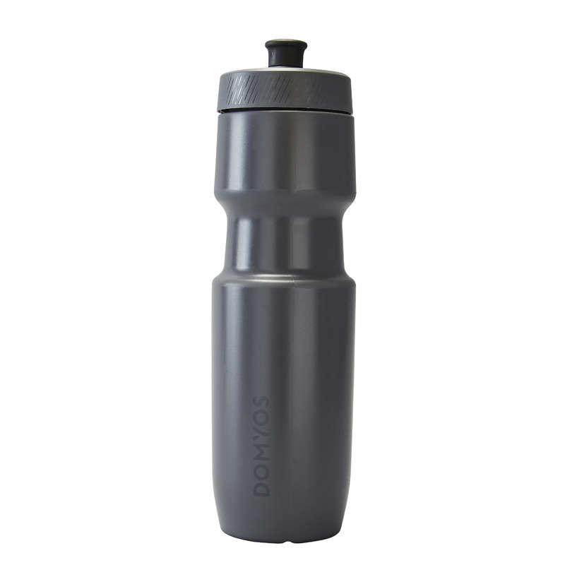 VATTENFLASKOR, HANDDUKAR FITNESS CARDIO Fitness - Flaska 800 ml grå DOMYOS - Träningstillbehör
