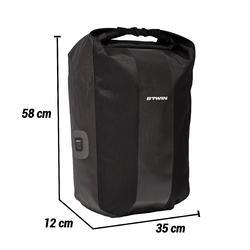 Fietstas 500 20 liter voor bagagedrager waterdicht zwart