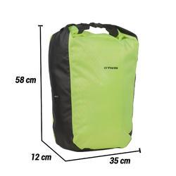Fietstas 500 op bagagedrager 20 l waterdicht geel