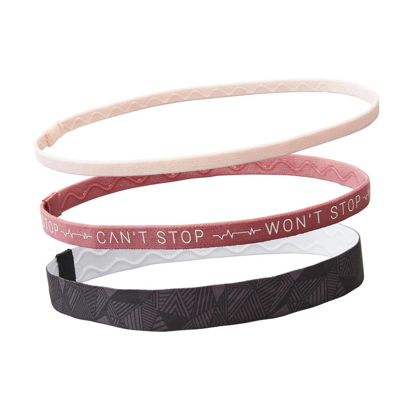 Cardio Fitness Hair Tie Tri-Pack - Black and Pink