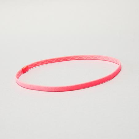 Cinta elástica para cabello x3 fitness cardio training estampado rosa