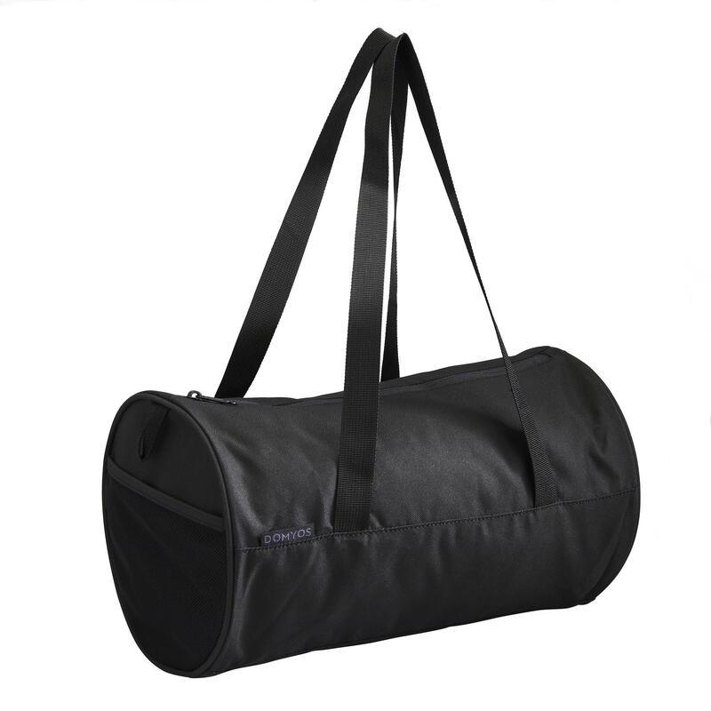 15L Compact Cardio Training Fitness Barrel Bag - Black