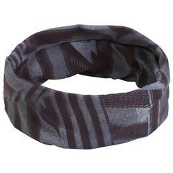 Bandeau cheveux fitness cardio training imprimé gris et noir