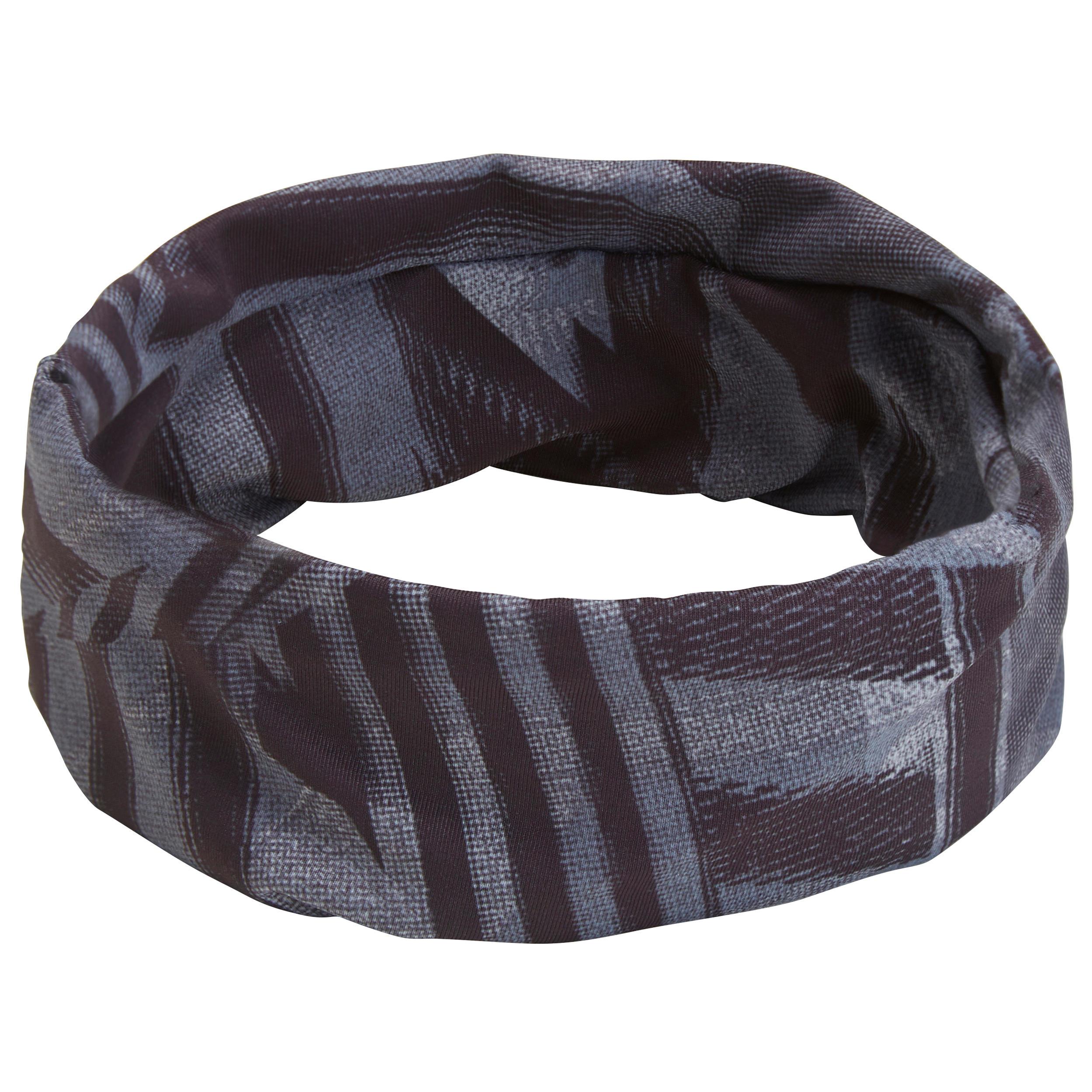 Stirnband Fitness Cardio Damen mit buntem Print | Accessoires > Mützen > Stirnbänder | Domyos