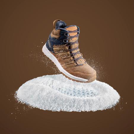 Botas cálidas impermeables senderismo nieve - SH100 X-WARM - Media caña Hombre.