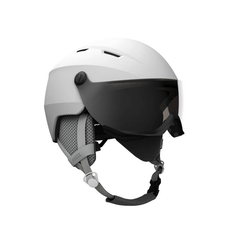 LYŽAŘSKÉ/SNOWBOARDOVÉ PŘILBY Lyžování - LYŽAŘSKÁ HELMA H350 BÍLÁ WEDZE - Ochranné prvky a příslušenství