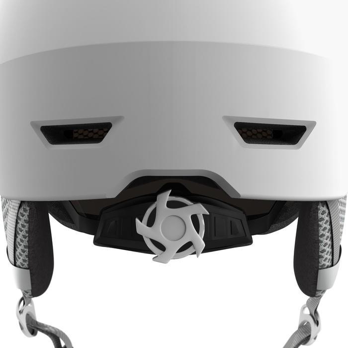 Skihelm met vizier voor volwassenen H350 wit