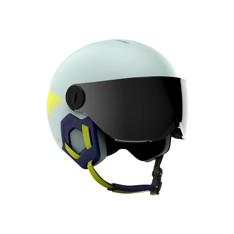 Casco Esquí y Snowboard, Wedze, H-KID 550, Niños, Visera, Verde