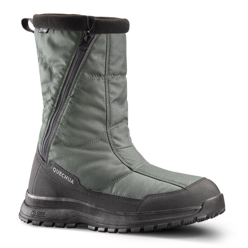 Men's Warm Waterproof Hiking Boots - SH100 ULTRA-WARM - Zip.