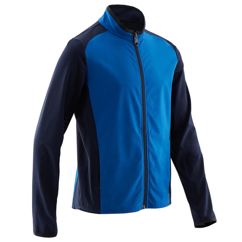 Boys' Light Breathable Gym Jacket W500 - Blue/Navy Blue