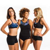 Women's one-piece Aquafitness swimsuit Lena Black mem