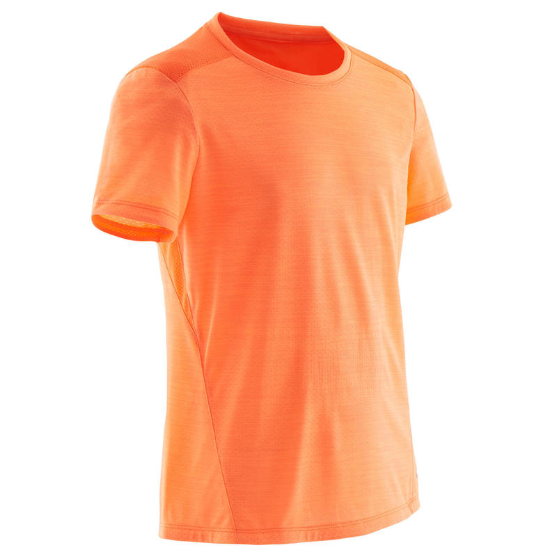 T-shirt enfant synthétique respirant - 500 orange