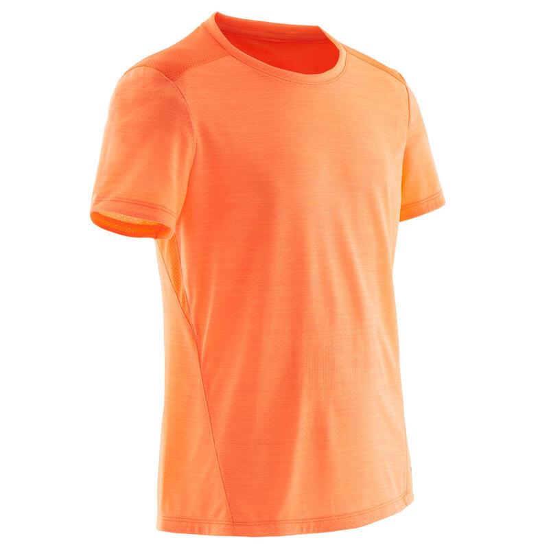 T-shirt respirant orange vif ENFANT
