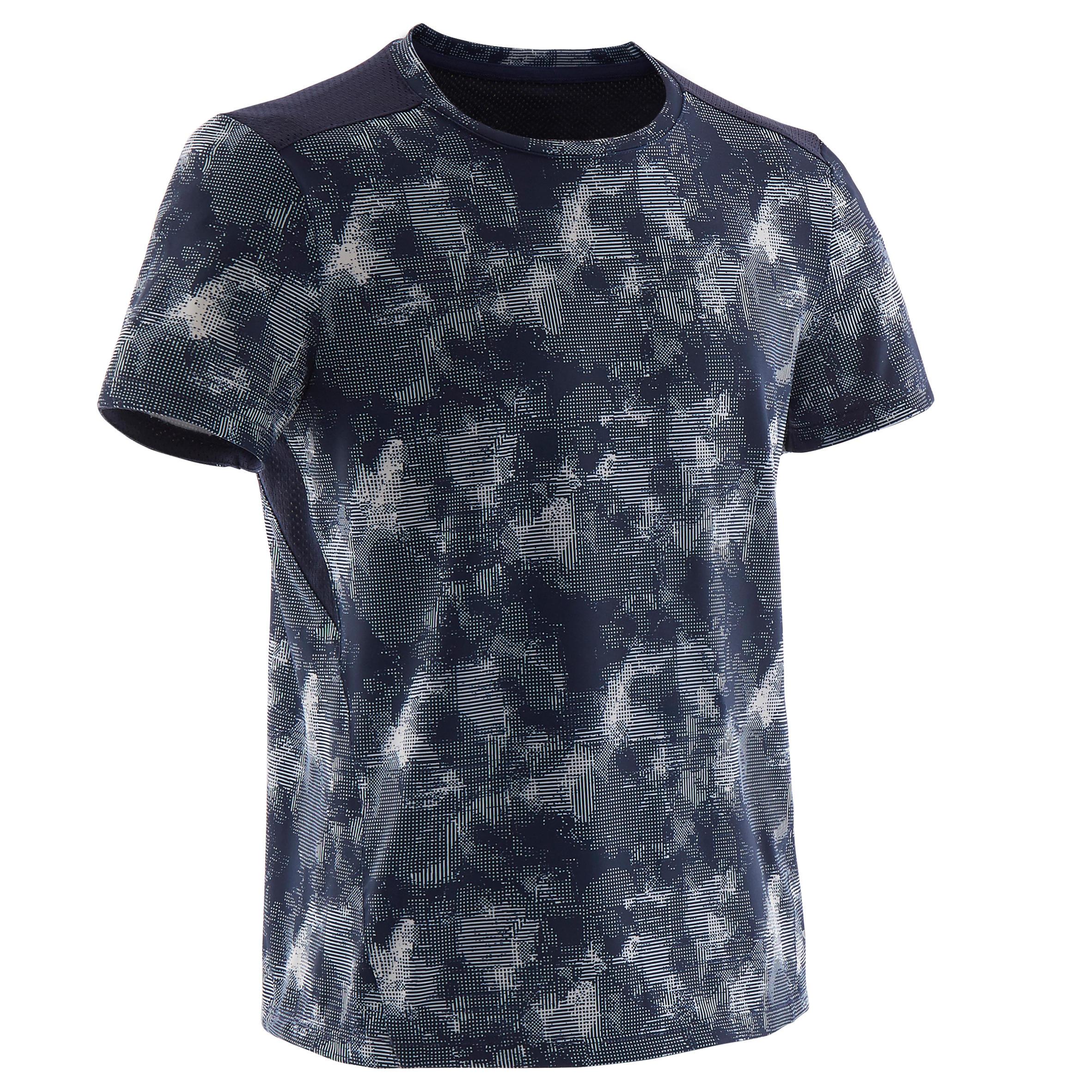 Ademend T-shirt met korte mouwen voor gym jongens S500 synthetisch