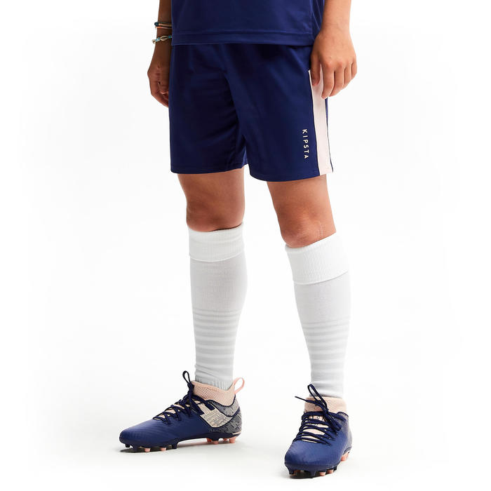 Voetbalbroekje meisjes F500 blauw/roze