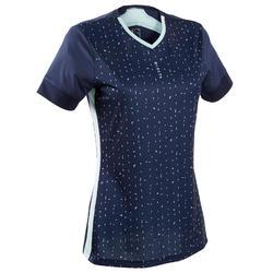 Camisola de Futebol Mulher F500 Azul: Edição Limitada