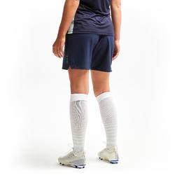 Voetbalshort voor dames F500 blauw