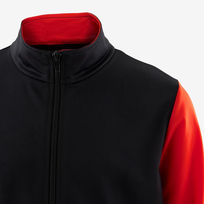 Warm en ademend trainingspak GYM'Y gym jongens S500 synthetisch zwart/rood