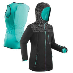 Snowboard- en ski-jas voor dames 3-in-1 SNB JKT 500 PROTEC zwart