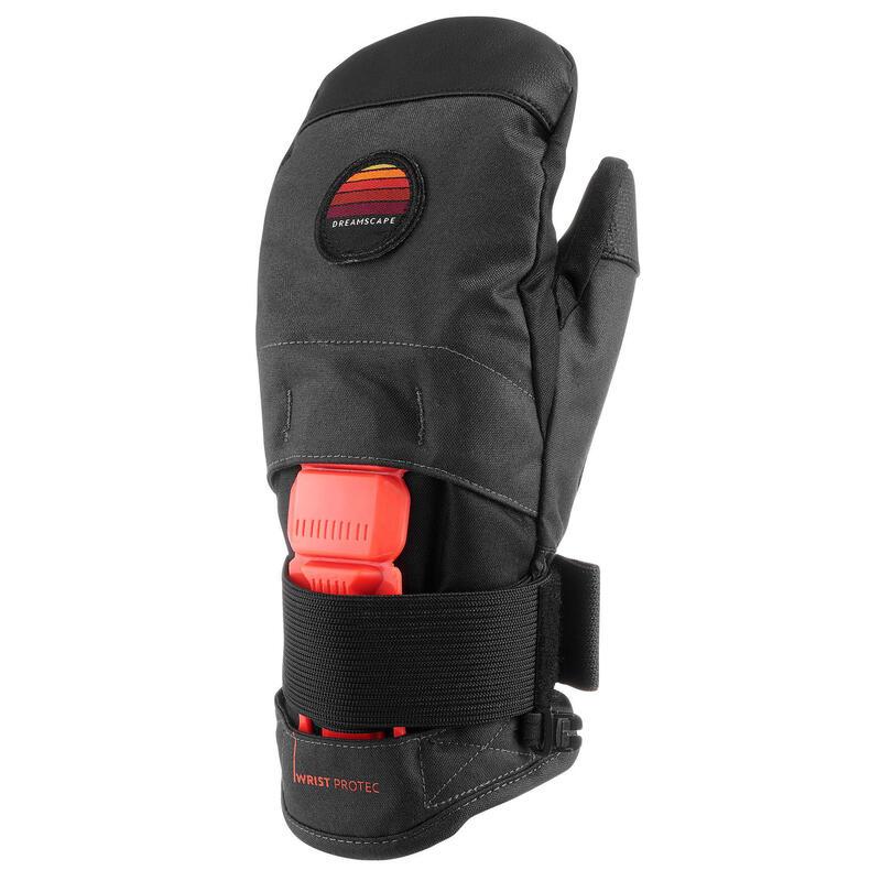 Snowboardwanten voor kinderen MI 500 JR Protect zwart en oranje