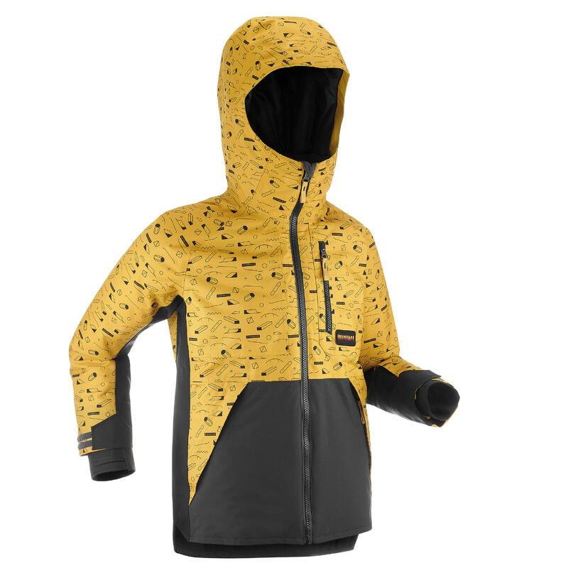 VESTE DE SNOWBOARD ENFANT (ET VESTE DE SKI ENFANT) 500 graph jaune