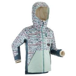 Snowboard- en ski-jas voor kinderen 500 grafische print blauw
