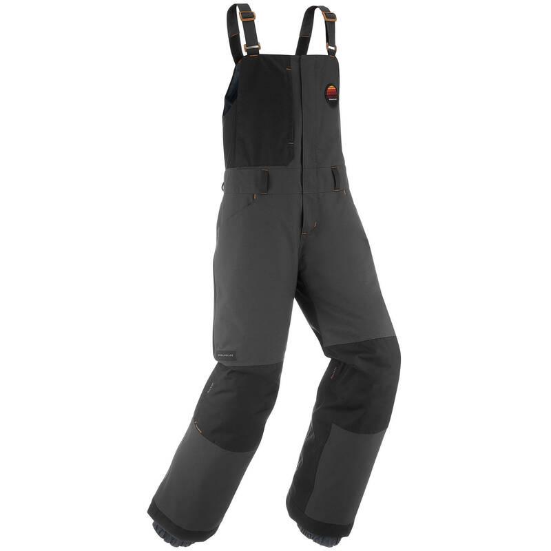 PÁNSKÉ VYBAVENÍ NA SNOWBOARD (ZKUŠENÍ) Snowboarding - KALHOTY S LACLEM BIB 500 ŠEDÉ  DREAMSCAPE - Snowboardové oblečení a doplňky