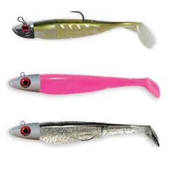 Kit leurres souples texan light Swat Shad / Neo Shad pêche en mer