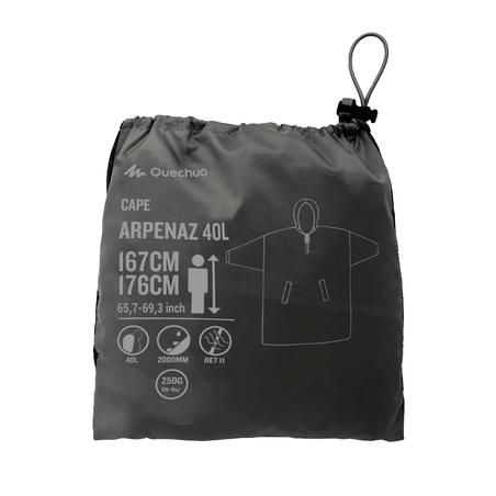 Arpenaz Hiking Waterproof Poncho S/M - Adults