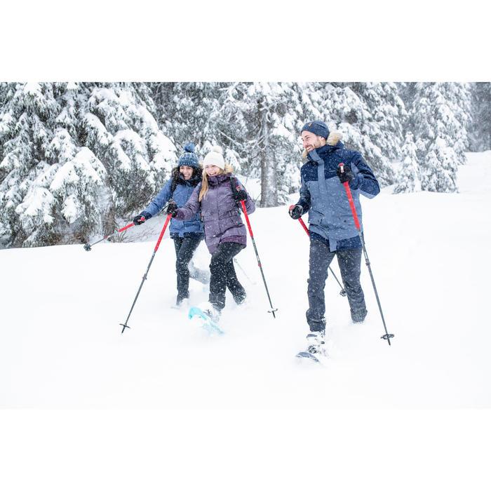 1 wandelstok voor de sneeuw SH500 All Season rood