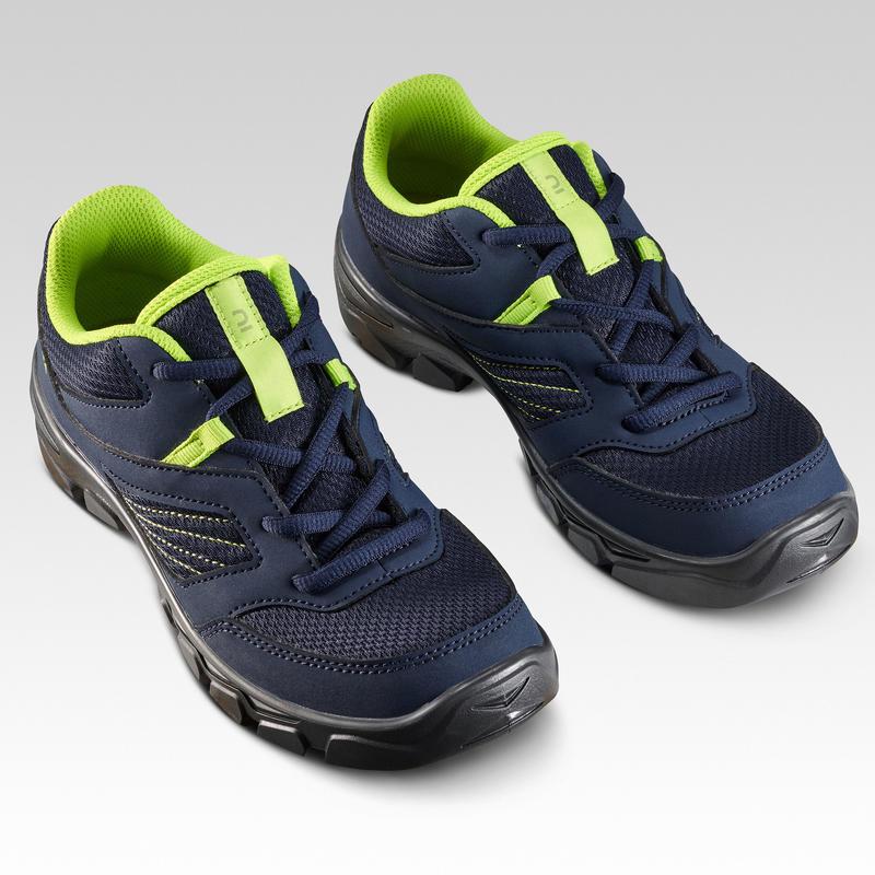 Chaussures de randonnée enfant avec lacets MH100 bleu du 35 AU 38