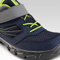 Chaussures de randonnée enfant avec scratch MH100 bleu du 24 AU 34