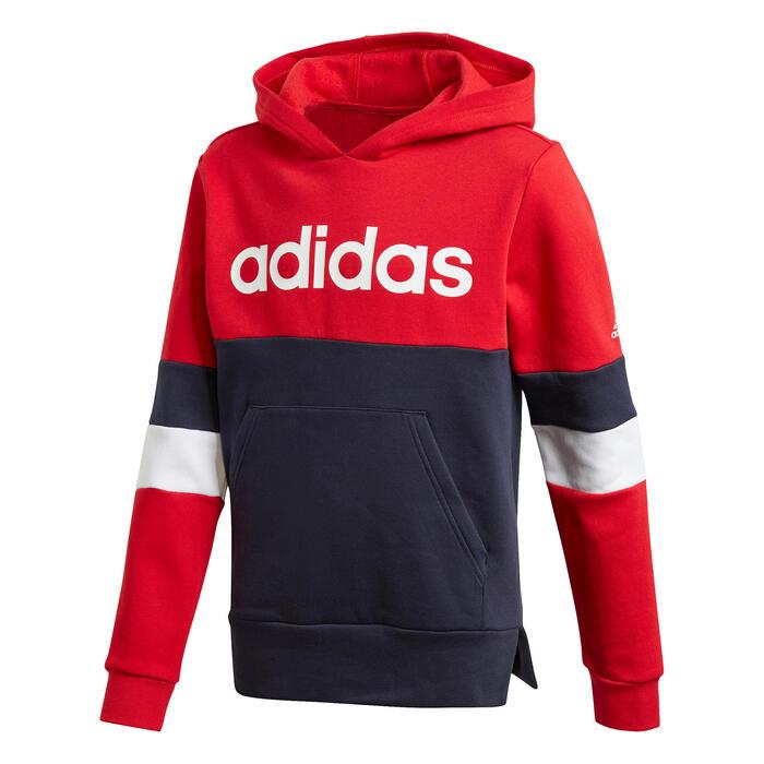 labbro onda comuni  Felpa bambino Adidas blu-rosso con logo ADIDAS | DECATHLON