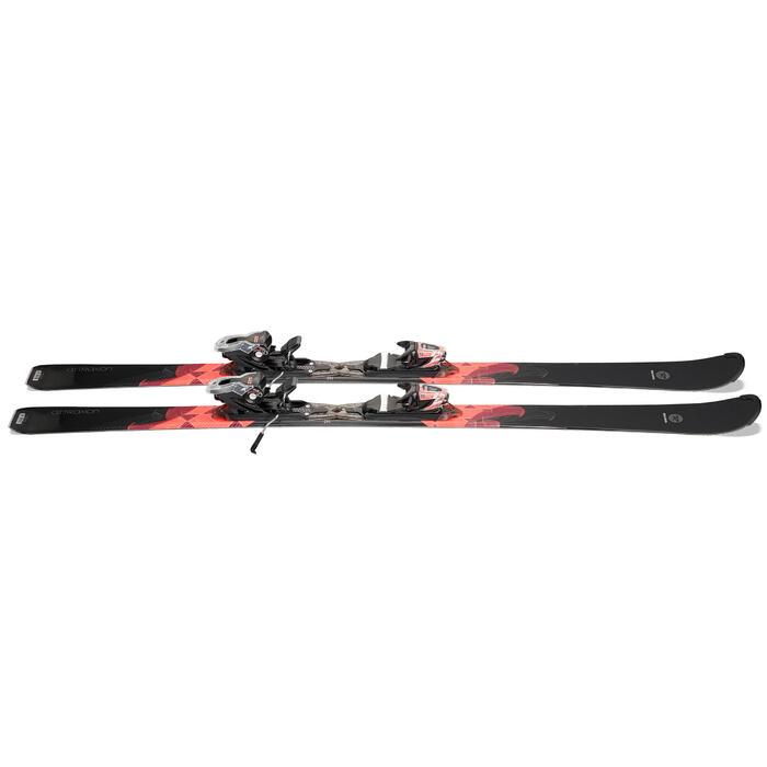 Pisteski's met bindingen voor dames Attraxion zwart/roze