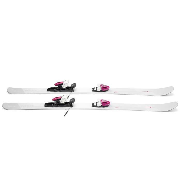 Pisteski's met bindingen voor dames Cross 150+ wit/paars