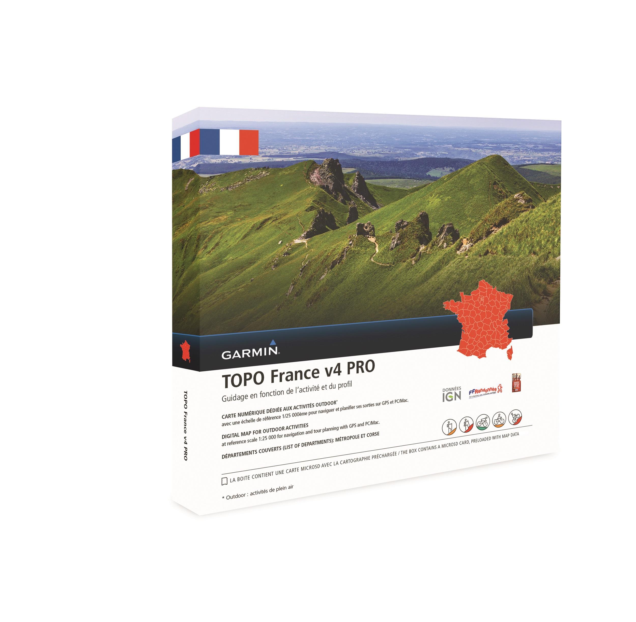 Garmin Topo Frankrijk Geheel V4 Pro DVD & microSD
