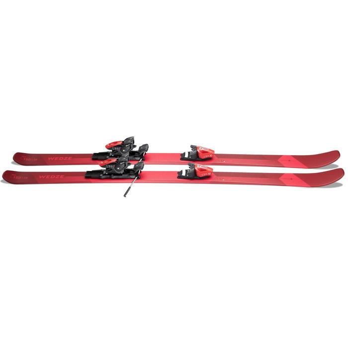 Pisteski's voor heren met bindingen Cross 150+ rood/bordeaux