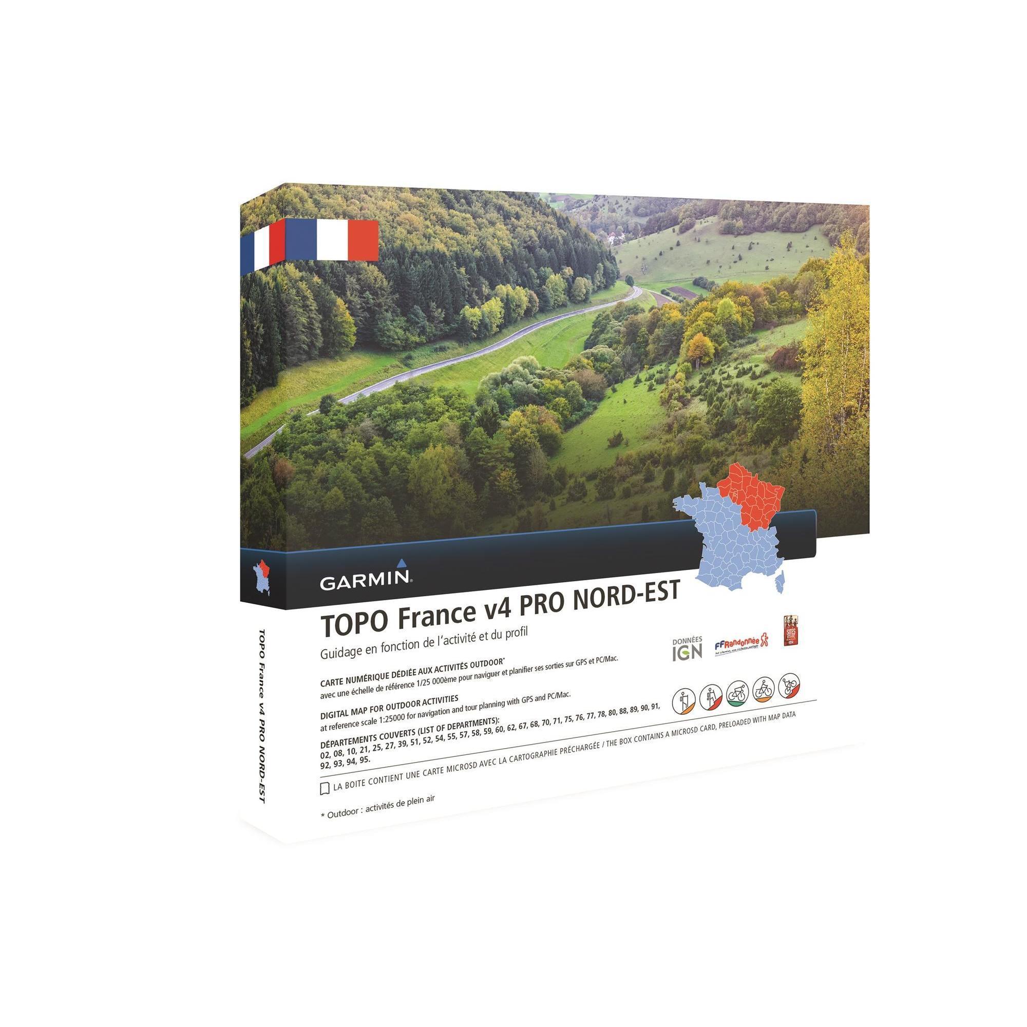 Garmin Topografische kaart Noordoost-Frankrijk V4 thumbnail