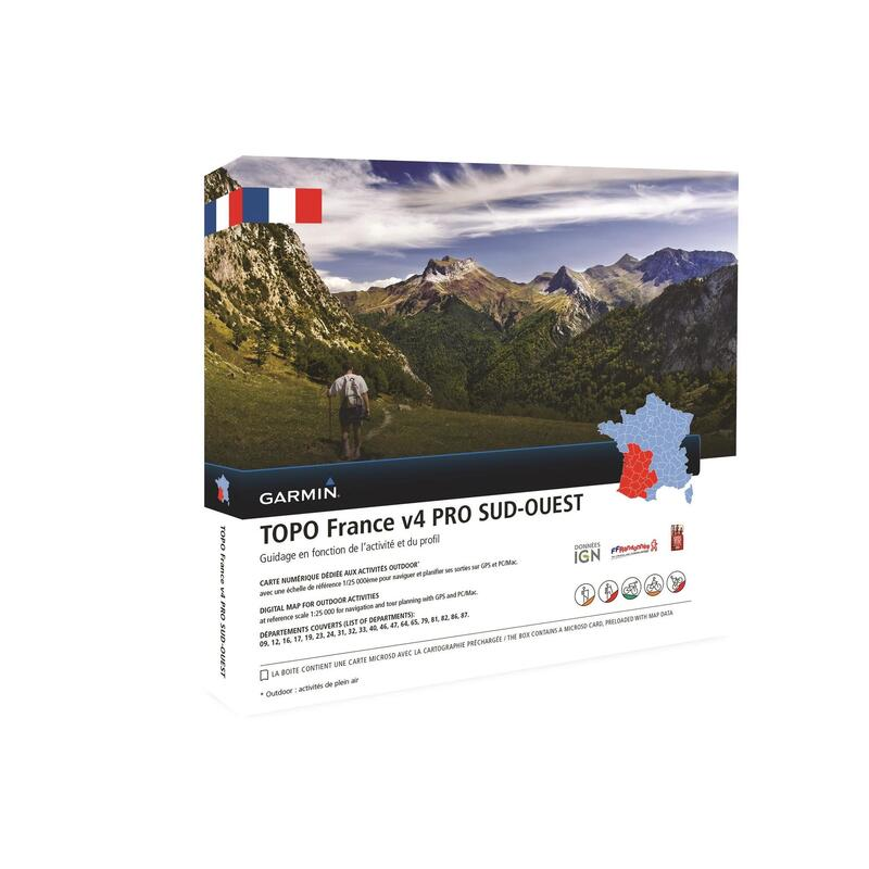 V4 South-West France Topographical Hiking Map