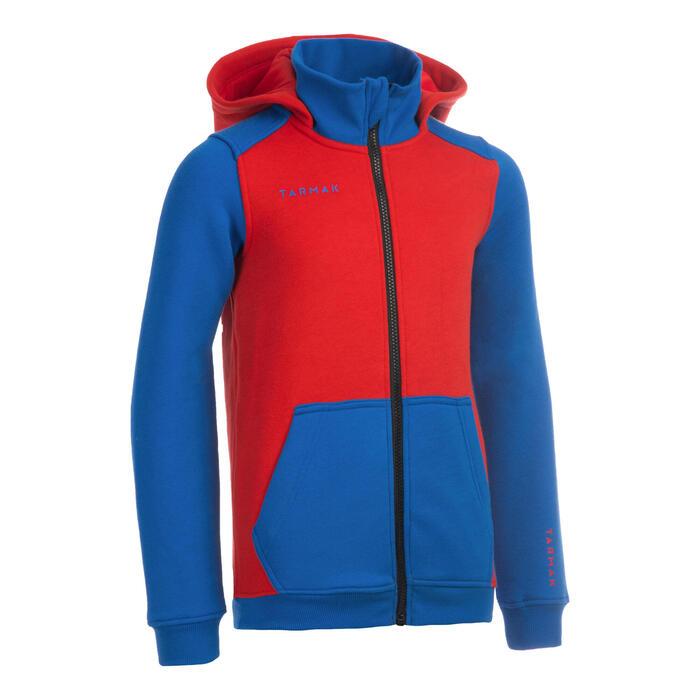 J500 Boys'/Girls' Intermediate Basketball Tracksuit Jacket - Blue Red