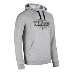 男款連帽衫100 NY - 灰色