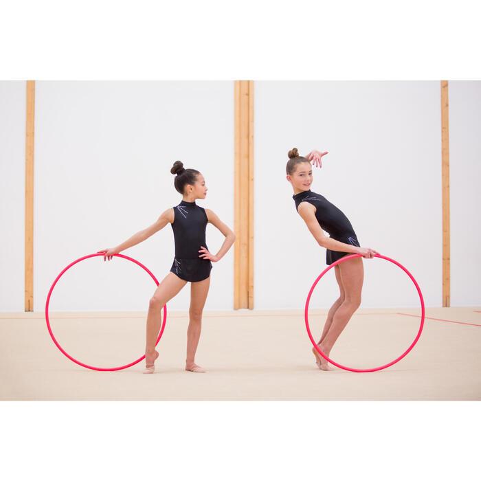 Jupette amovible de Gymnastique Rythmique (GR) Noire Strassée